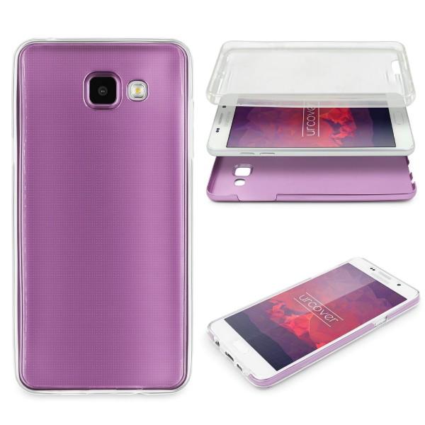 Samsung Galaxy A7 (2016) 360 GRAD RUNDUM SCHUTZ Metalloptik TPU Hülle Cover Case