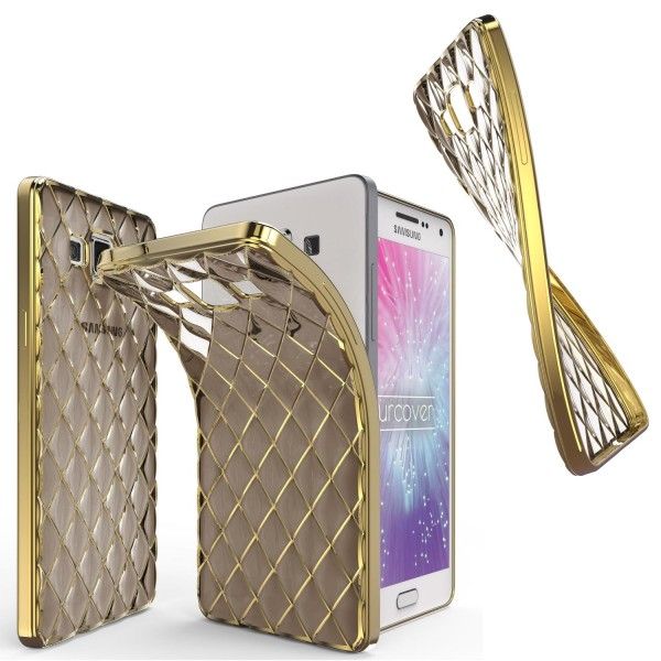 Urcover® Samsung Galaxy A7 (2015) Schutz Hülle Quilted Diamond Design Case Cover