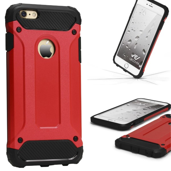 Apple iPhone 6 / 6s OUTDOOR Schutz Hülle TOP Cover Back Case Carbon Optik Etui