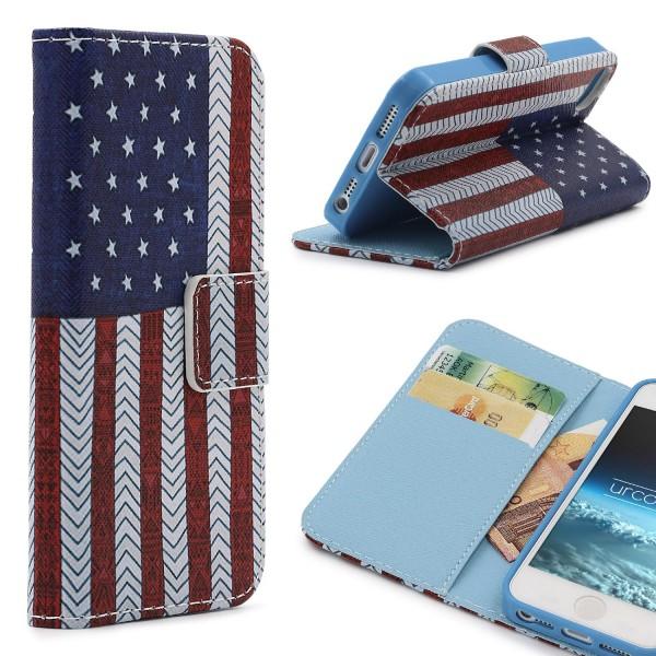Apple iPhone 5 / 5s / SE Handy Schutz Hülle Cover Case Wallet Klapphülle Schale