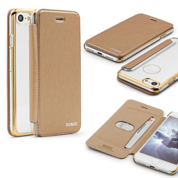 Apple iPhone 7 Schutzhülle Wallet Klapp Cover Flip Case Tasche Etui Bumper