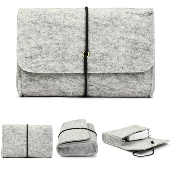 Urcover® Filz Tasche Beutel Kulturbeutel für Kleinteile, Accessoires & Handy