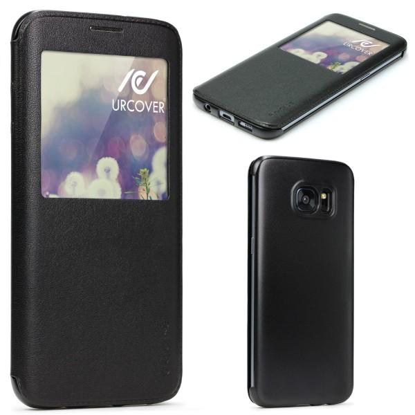 Urcover® Samsung Galaxy S7 Edge Wallet Cover Case Magnetverschluss View Hülle
