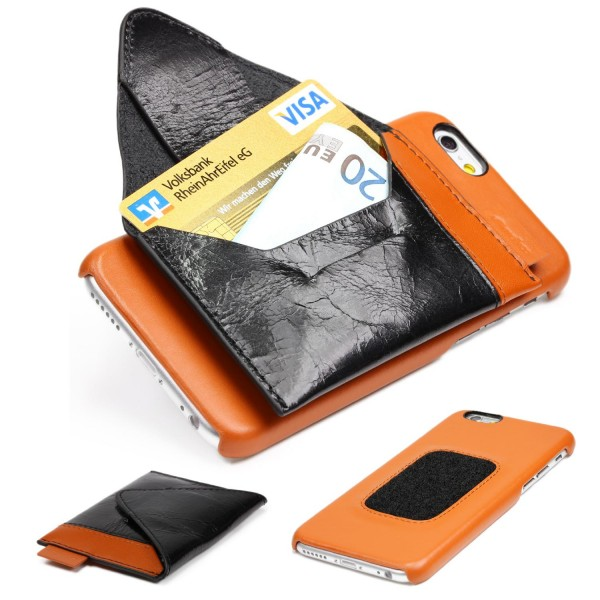 Melkco Apple iPhone 6 Plus / 6s Plus Hülle Back Case Cover Klett Portmonaie