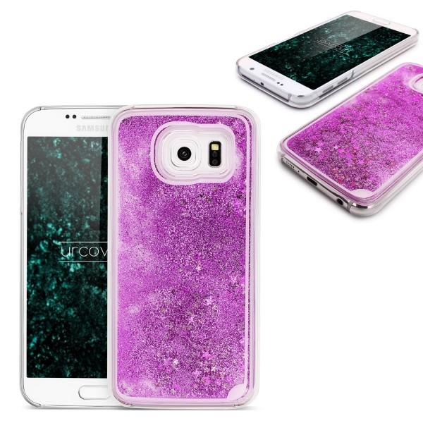 Samsung Galaxy S6 TPU Glitter Liquid Case Cover Schutz Hülle Trend Glitzer
