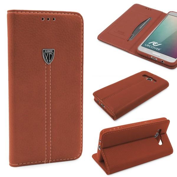 Samsung Galaxy J5 (2016) Schutz Hülle Wallet Case Flip Cover Kartenfach Schale