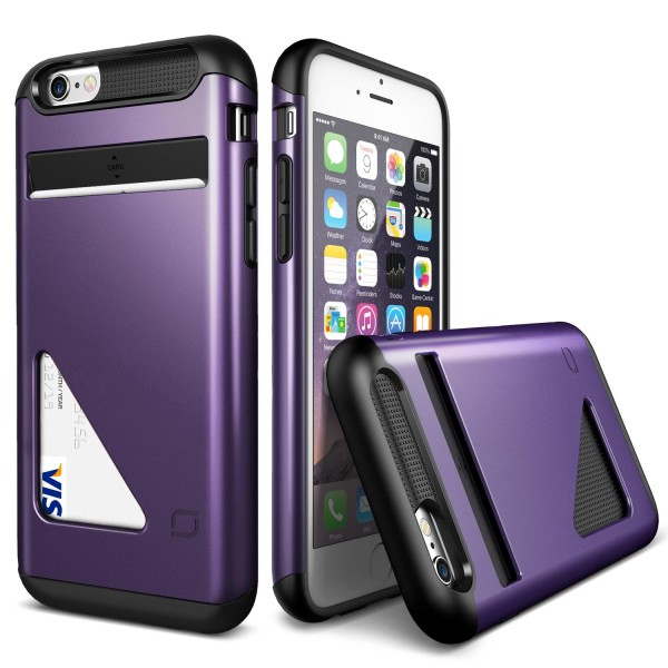 Urcover® Apple iPhone 6 / 6s Kartenfach Back Case Schutz Hülle TPU Cover Schale