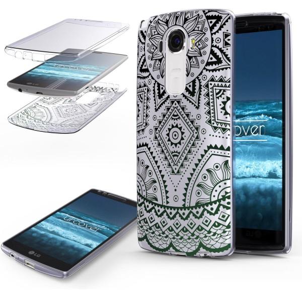 LG G4 TPU 360° Grad Rundum Schutz Hülle Mandala Case Cover Schale Etui Tasche