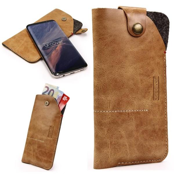 7,4 Zoll Universal Leder Handy Schutz Hülle Tasche Schale Cover Case Etui