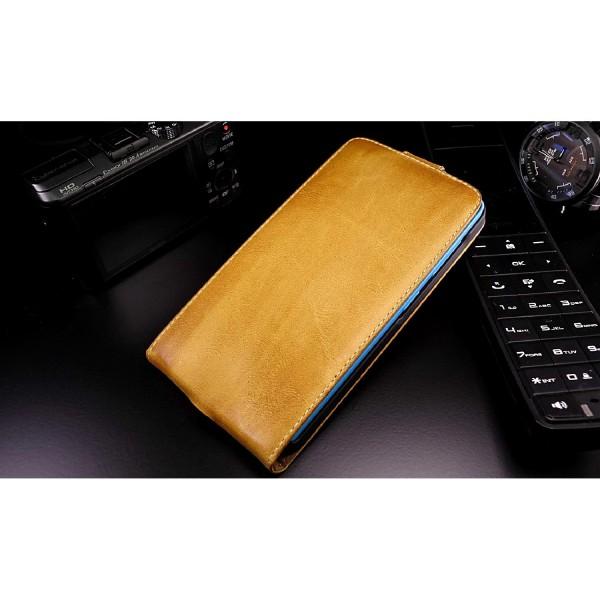 Akira Microsoft Lumia 535 Handgemachte Echtleder Klapp Schutz Hülle Flip Cover