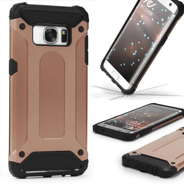 Samsung Galaxy S7 Edge OUTDOOR Schutz Hülle TOP Cover Backcase Carbon Optik Etui