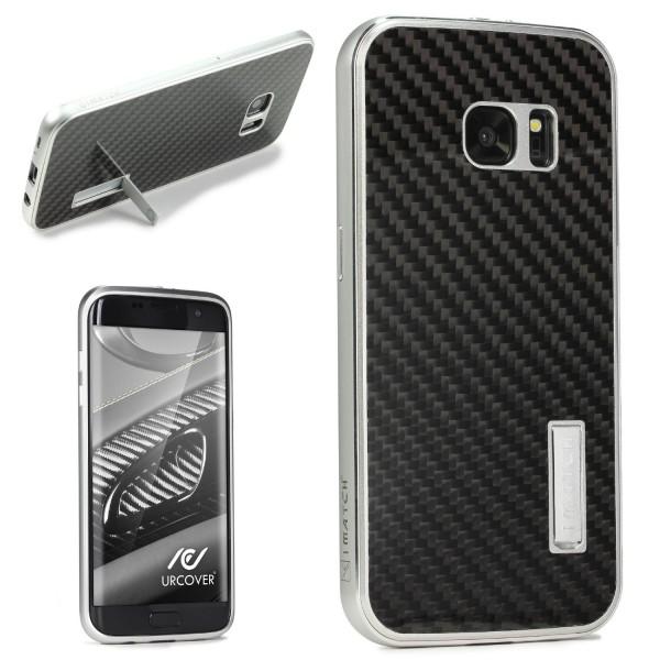 Samsung Galaxy S7 Echt Carbon Bumper Case Cover Schutz Hülle Tasche