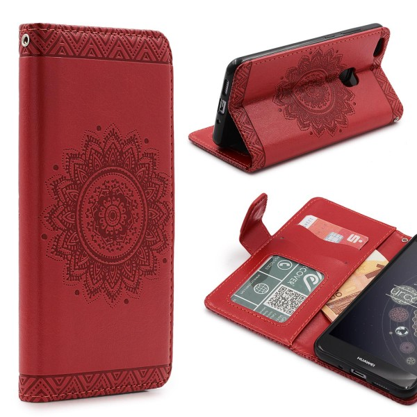 Huawei P10 Lite Wallet Klapp Schutz Hülle Stand Flip Case Cover Etui Schale