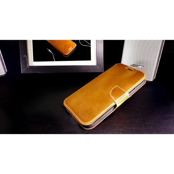 Akira Samsung Galaxy S5 Echtleder Handmade Klapp Schutz Hülle Wallet Flip Case