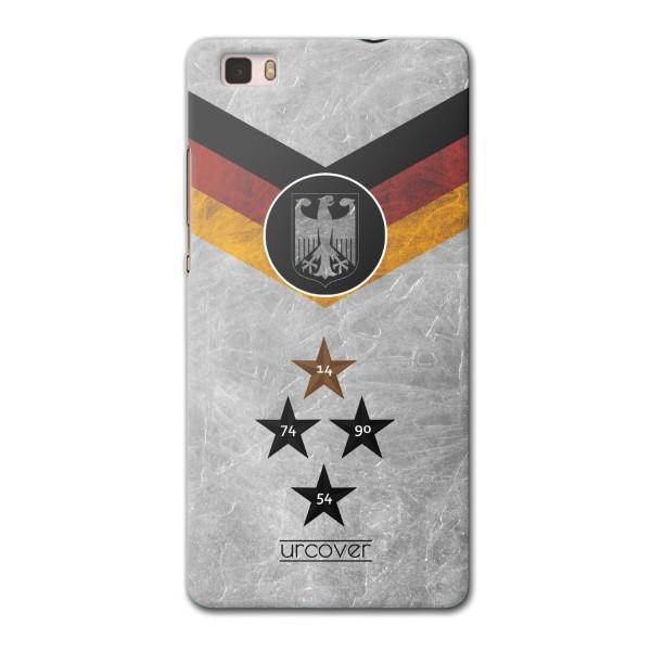 Urcover® Huawei P8 Fanartikel Schutz Hülle Fußball Case Land Flagge Tasche Etui