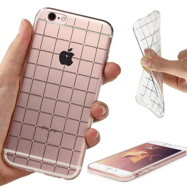 Urcover® Apple iPhone 6 / 6s Back Case Cover Diamond Lines Design Sleeve Tasche