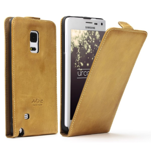 Akira Hand Made Leder Handy Schutz Hülle Case Cover Wallet Galaxy Note Edge