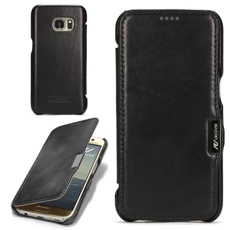 Samsung Galaxy S7 Echt Leder Series Handy Schutz Hülle Etui Flip Cover Schale Flip Book Taschen Galaxy S7 Smartphone Samsung