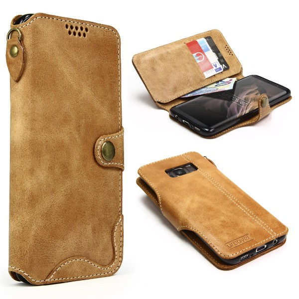 Akira Samsung Galaxy S8 Plus Echt Leder Smartphone Hülle Cover Case Handy Tasche