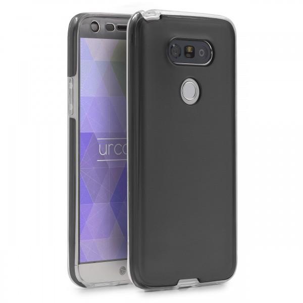 LG G5 360 GRAD RUNDUM SCHUTZ Metalloptik TPU Slim Hülle Cover Rundum Case Etui