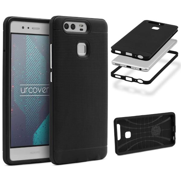 Huawei P9 Schutz Hülle Carbon Style Karbon Optik TPU Case Cover Etui Bumper