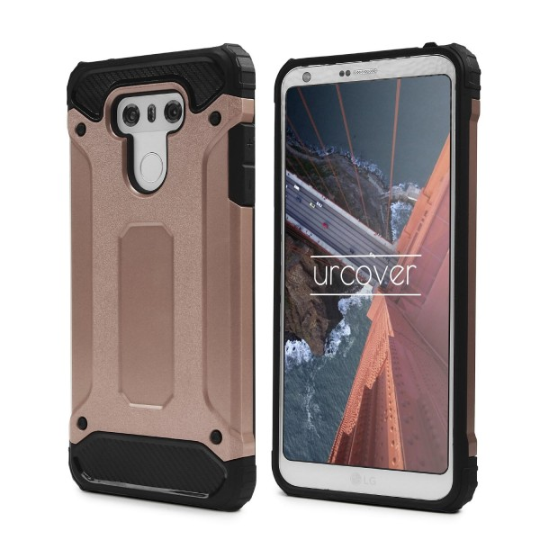 Urcover® LG G6 Hybrid Case Steel Series Schutzhülle Cover Dual Layer TPU PC