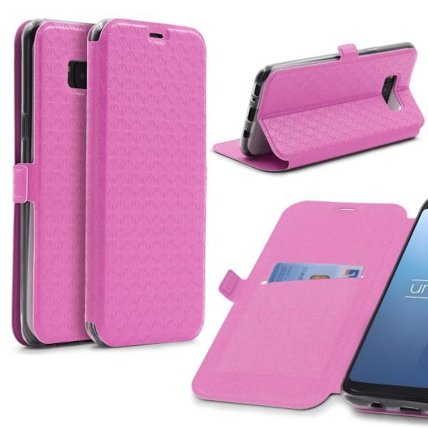 Samsung Galaxy S8 Plus Handy Schutz Hülle Sichtfenster Kartenfach Standfunktion