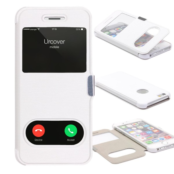 Apple iPhone 6 / 6s Double View Schutz Case Handy Hülle Fenster Tasche Cover