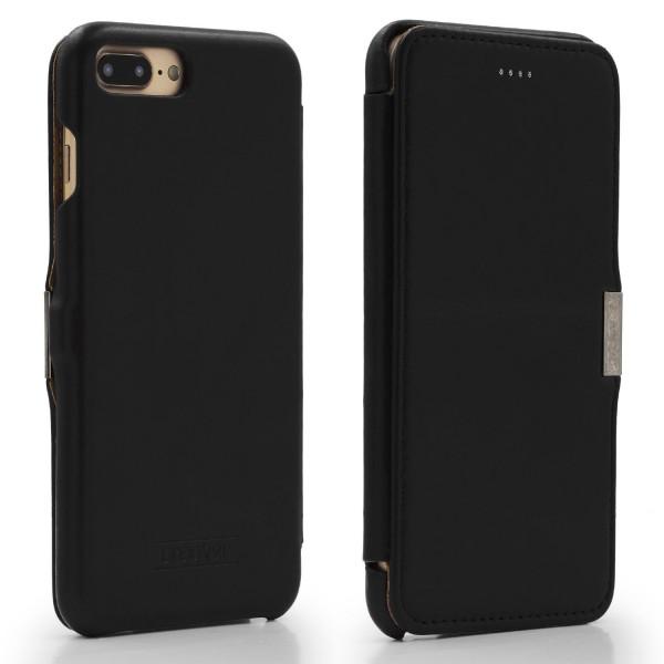Apple iPhone 7 Plus ECHT LEDER Schutz Hülle Lederhülle Schale Wallet Case Cover