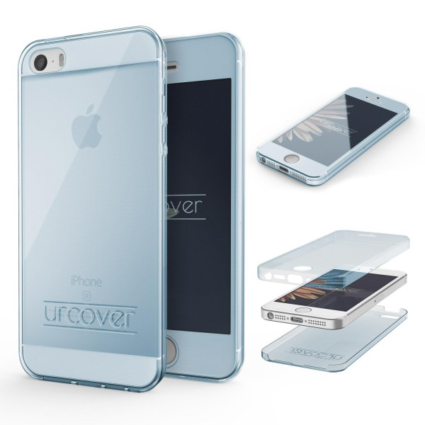 Apple iPhone 5 / 5s / SE TPU Case 360 Grad Schutz Hülle Etui Cover Touch Case