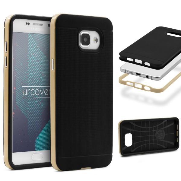 Samsung Galaxy A7 (2016) Schutz Hülle Carbon Style Karbon Optik TPU Case Cover
