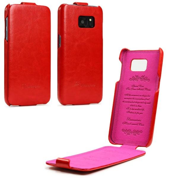 Samsung Galaxy S7 Fashion Flip Handy Schutz Hülle Case Cover Schale Tasche
