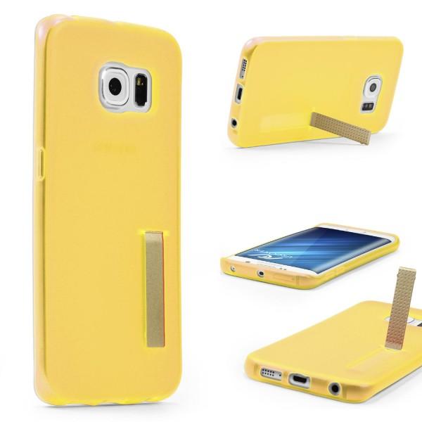 Urcover® Samsung Galaxy S6 Edge Schutz Hülle mit Standfunktion Soft Case Cover
