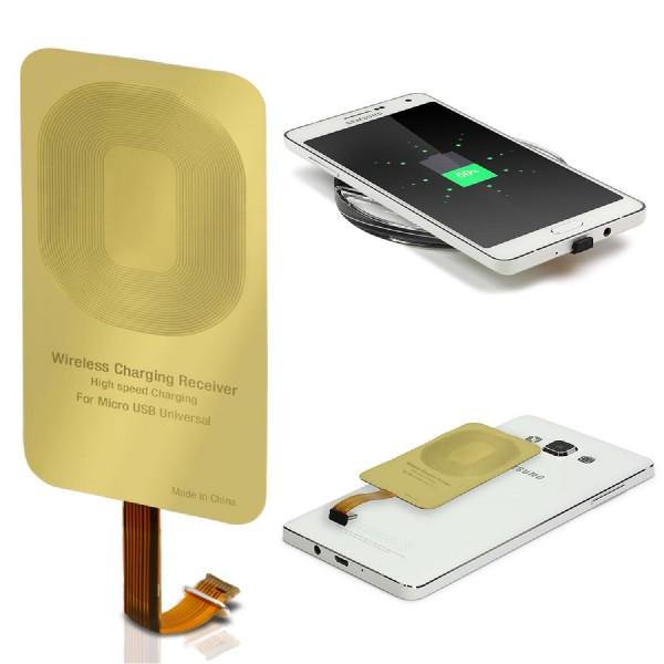 Micro USB Universal Kabelloser Qi Lade Empfänger Wireless Qi-Charging Receiver