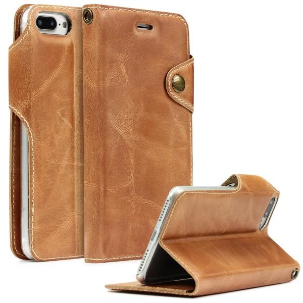 Akira Apple iPhone 7 Plus Hülle Handygemacht Echt Leder Cover Case Standfunktion