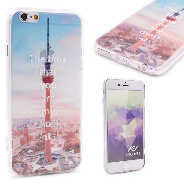 Urcover® Apple iPhone 6 / 6s Schutzhülle TPU Case Cover Design Fernsehturm