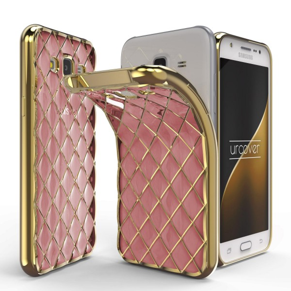 Urcover® Samsung Galaxy J7 (2015) Schutz Hülle Quilted Diamond Design Case Cover