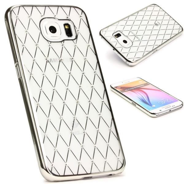 Urcover® Samsung Galaxy S6 Schutz Hülle Glitzer Silikon Soft Case Cover Tasche