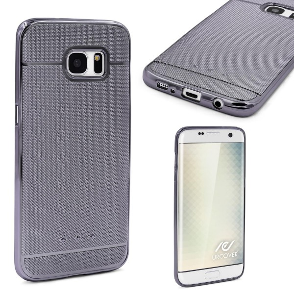 Urcover® Samsung Galaxy S7 Edge Schutz Hülle Metall Optik Silikon Soft Back Case