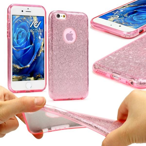 Urcover® Apple iPhone 6 Plus / 6s Plus 2 in 1 Glitzer Schutz Hülle Bling Case