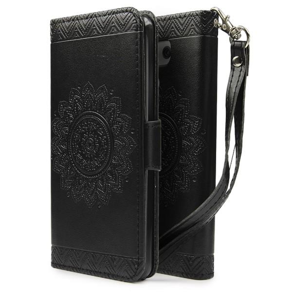 Urcover® LG G6 Schutz Hülle Wallet Klapp Schale Lotus Pattern Case Cover
