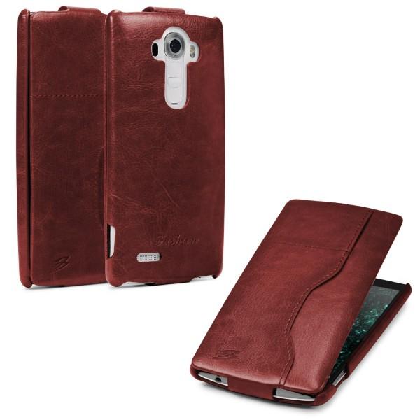LG G4 Handy Klapp Tasche Flip Case Cover Schutz Hülle Etui Wallet Kunst-Leder
