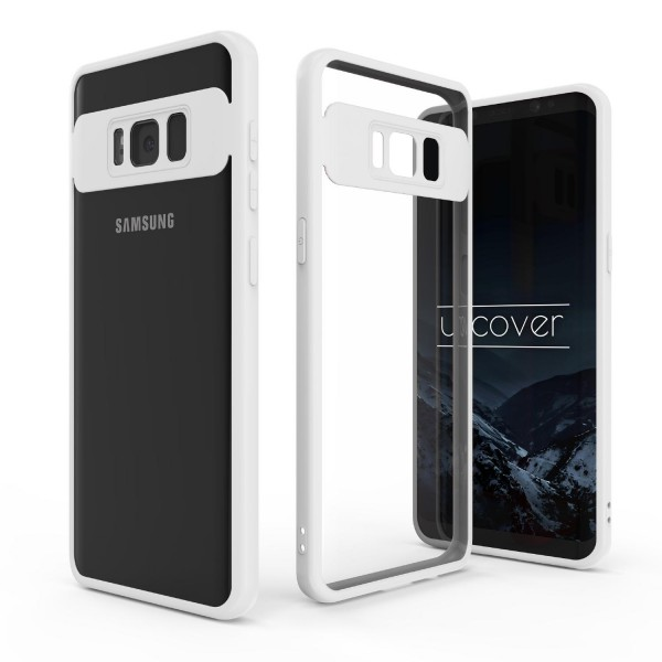 Urcover® Samsung Galaxy S8 Plus Simply Back Case Schale farbiger Rand Handyhülle
