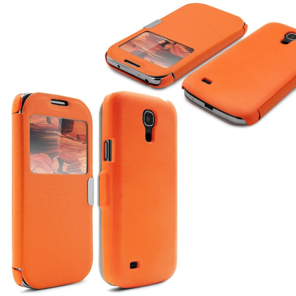 Urcover® Samsung Galaxy S4 Mini Schutzhülle Kunststoff Wallet Flip Case Cover
