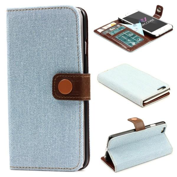 Urcover® Apple iPhone 6 / 6s Schutzhülle Stoff Wallet Flip Case Schutzhülle Etui