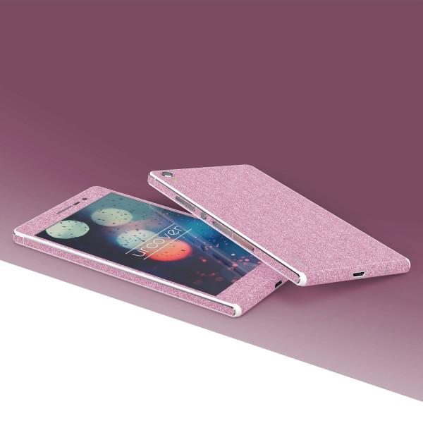 Huawei P7 Glitzer Folie Aufkleben Regenbogen Farbig Diamond Bling Design Optik