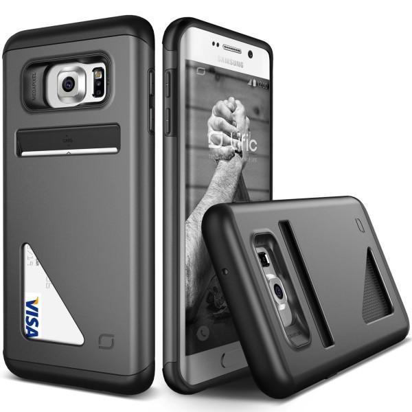 Urcover® Samsung Galaxy S6 Edge Plus Kartenfach Back Case Schutz Hülle TPU Cover