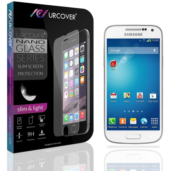 Samsung Galaxy S4 Mini Echt Glas Panzer Display Schutz Folie Ultra Slim Clear