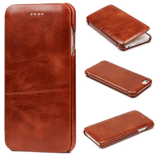 Urcover® Apple iPhone 6 Plus / 6s Plus Kunstleder Schutz Wallet Flip Hülle Cover