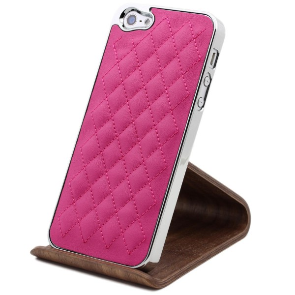 Urcover Apple iPhone 5 / 5s / SE Schutz Hülle Slim Case Cover Steppmuster Schale